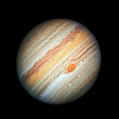 A Hubble Űrtávcső 2019-es portréja a Jupiterről.